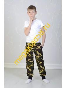 Брюки БК-0156 Спорт , кулирка, LTL, р.р.128-146 (4 шт/уп) Хаки/желтый*****