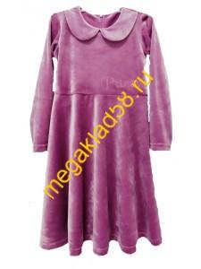 Платье П-4995 длинный рукав, велюр  Buttoni р.р.122-140 (4 шт/уп)