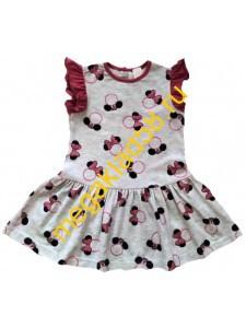 Платье П-1428 , кулирка с лайкрой, Buttoni р.р. 86-104 (4шт/уп) Бантик/розовый******
