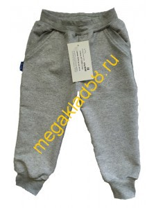 Штаны  ШФ - 0205 Спорт.футер LTL  р.р. 80-98 (4 шт/уп) Серый меланж*****