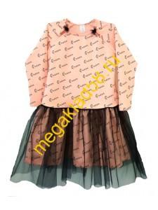 Платье ПФ-0248, футер петля, р.р.122-140 (4 шт/уп) QUEEN*****