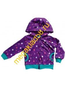 Толстовка ТИ-0770 на молнии , интерлок, р-р 92-116 (5шт/уп) Звезды/фиолетовый*****