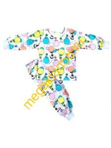 Пижама ПК-0105, кнопка плечо, кулирка, р.р.74-98 (5 шт/уп) Воздушные шары/розовый