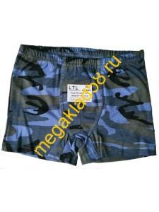 Трусы - Боксеры Б-2  кулирка, LTL р-р 98-140 (8 шт/уп) Камуфляж/синий