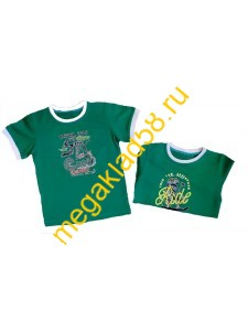 Футболка Ф-0189 кулирка р-р 98-122 (5шт/уп) Green