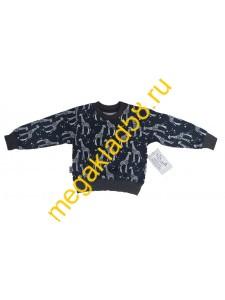 Свитшот СК-0123 кулирка, LTL,  р.р. 80-98 (4 шт/уп) Черный жираф*****