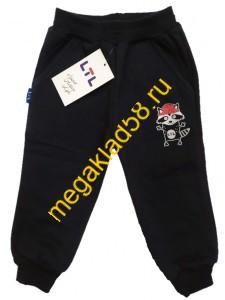 Брюки БФ-0219 Енот Спорт.футер, LTL р.р. 104-122 (4 шт/уп) Принт Черный*****