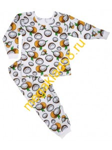 Пижама ПД-0112 девочка кулирка, LTL, р.р 92-128 (7шт/уп) Кокос/экрю