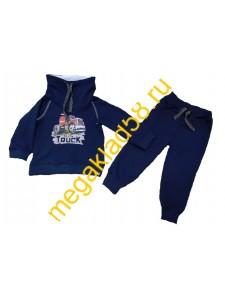 Костюм ТМ-005-1 Толстовка + брюки, футер петля начес, р.р.86-104 (4шт/уп) Темно-синий*****