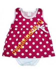 Боди-платье Б-0198 (кулирка) р.68-86 (4шт/уп) малиновый