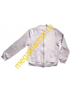 Бомбер ФП-0215  спортивный . р.р.164 (1 шт/уп) светло-серый меланж*****