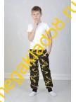 Брюки БК-0156 Спорт , кулирка, LTL,  р.р.98-116 (4 шт/уп)  Хаки/желтый*****