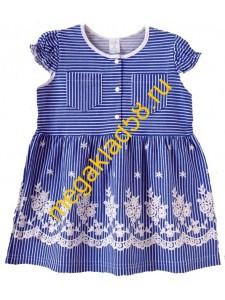 Платье ПК-004-1 , кулирка, р.р.98-122 (5 шт/уп) Синий*****