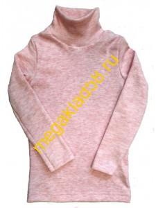 Водолазка В-3004 начес кашкорсе, р.р  98-116 (4 шт/уп) розовый меланж****