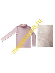 Водолазка В-3004 начес кашкорсе, р.р. 122-140  (4 шт/уп) розовый меланж*****