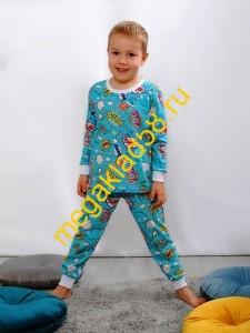 Пижама ПК-0121-21 кулирка Buttoni р.р 92-122 (6 шт/уп)  Авокадо/экрю*****