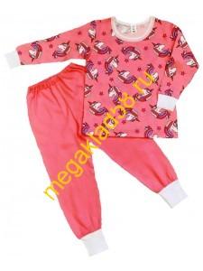 Пижама ПК-0121-24 кулирка Buttoni р.р 92-122 (6 шт/уп)  Единорог/розовый****